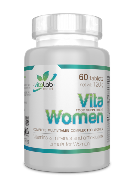 VitaWomen mutlivitamin for women 60 tablets - Vitalab-Natural