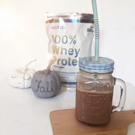 Whey protein chocolate shake - Vitalab-Natural