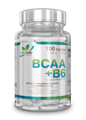 BCAA+B6 Vitamin 100 tabletta - Vitalab-Natural