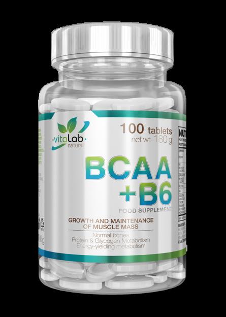 BCAA+B6 100 tablets - Vitalab-Natural