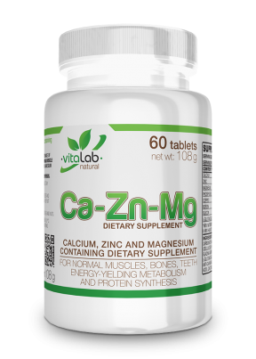 Ca-Zn-Mg - Calcium Zick Magnesium 60 tablets - Vitalab-Natural
