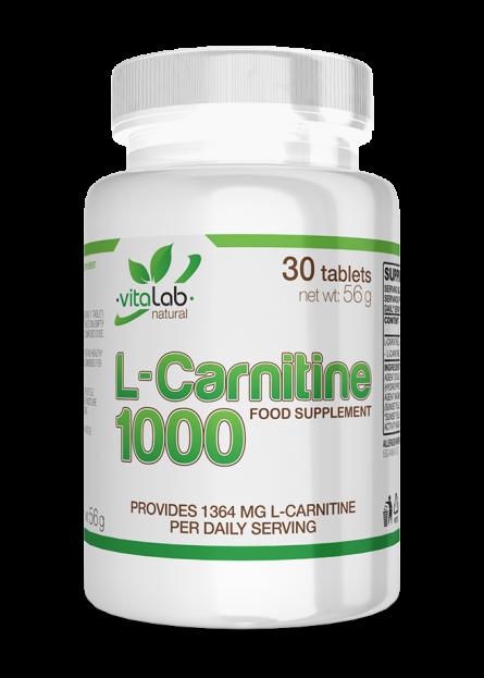 L-carnitine 30 tablets Vitalab-Natural