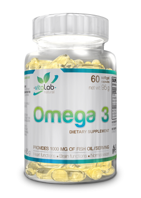 Omega 3 60 halolaj kapszula - Vitalab-Natural