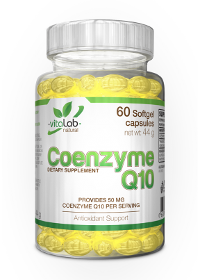 Coenzyme Q10 60 softgel capsules - Vitalab-Natural