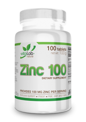 Zinc 100mg 100 tablets - Vitalab-Natural