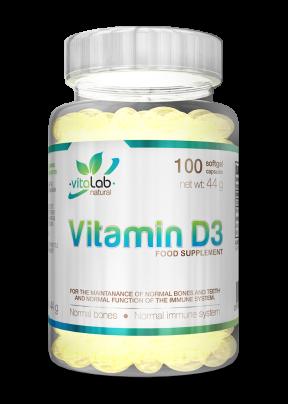Vitamin D3 100 capsules - Vitalab-Natural
