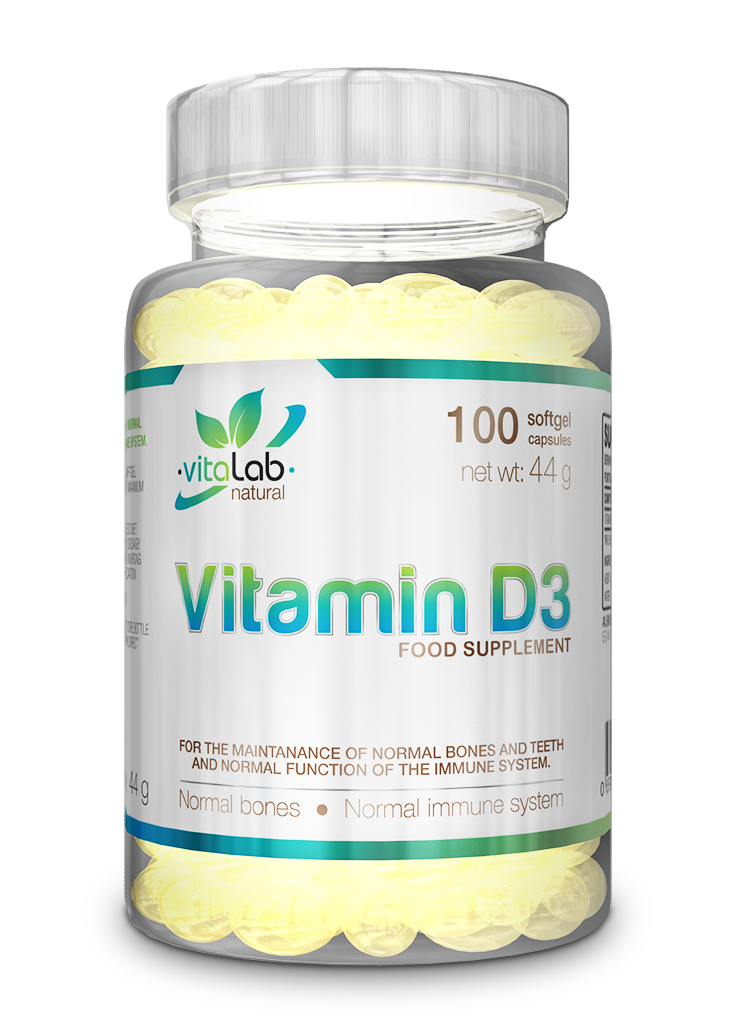 08eb0bf029 D3 vitamin 100 kapszula - Vitalab-Natural