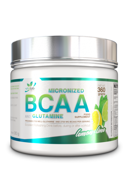 BCAA + Glutamin - Citrom + lime íz - Vitalab-Natural