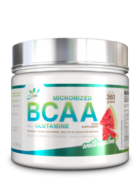 Micronized BCAA + Glutamine - Watermelon flavour