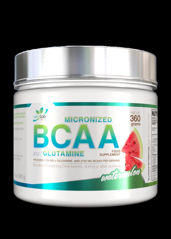 BCAA + Glutamin - Görögdinnye íz - Vitalab-Natural