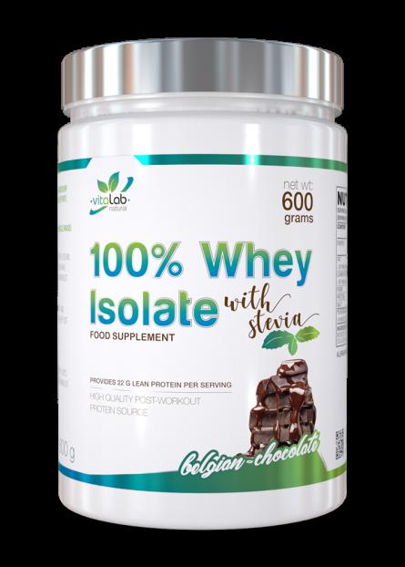 100% Tejsavó Izolátum fehérje - Belga csoki ízű - Vitalab-Natural