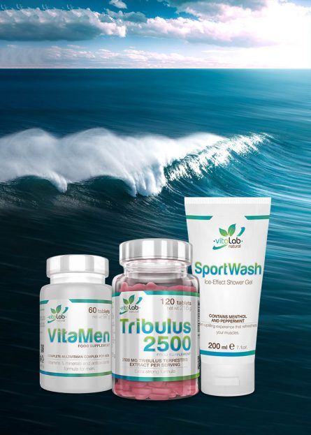 Férfierő csomag - Tribulus, VitaMen, SportWash - Vitalab-Natural